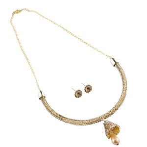 Goldplated Stone Studded Necklace Set For Women.(code-nm-1368)