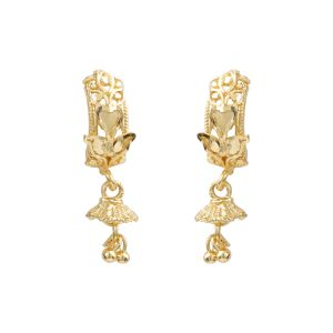 Silver Shine Trendy Gold Stylish Ethnic Traditional Look Drop Earring For Women - ( Code - Nm-515 )