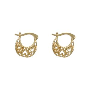 Silver Shine Appealing Gold Small Traditional Hollow Hoop Bali Earring For Women - ( Code - Nm-516 )