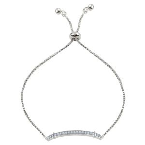 Silver Shine Simple Silver Alloy Party Wear Bracelet - ( Code - Nm-704 )