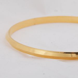 Silver Shine Gold Plated Metal Thin Punjabi Kada Bangle Bracelet For Mens.