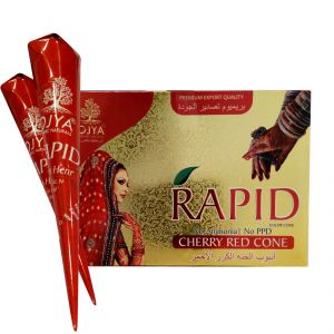 Personal Care & Beauty - OJYA Rapid Cherry Red Henna Cone (Pcs of 12)