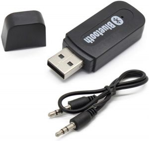H & S Designer Studio USB Bluetooth Audio Receiver 3.5mm Music Adapter Dongle Speakers Car MP3