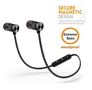 Easy Way Magnetic Bluetooth Headphone With Noise Isolation And Hands-free Mic Feet For All Smart Phone