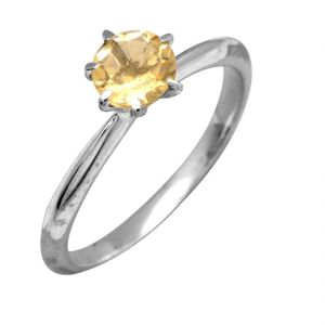 Yellow Sapphire Ring Original & Unheated Gemstone Pukhraj Silver Ring 4.25 Ratti By Ceylonmine ( Code Red00014 )