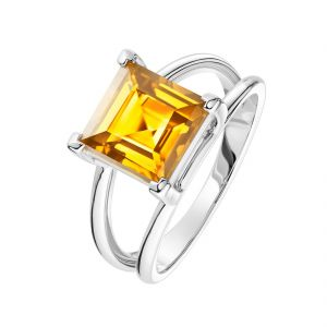 Citrine 7.25 Ratti Stone Silver Beautiful Ring For Unisex (code- Cey0013)