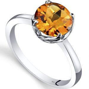 6.25 Ratti Natural Citrine Stone Silver Ring For Unisex (code- Cey0021)