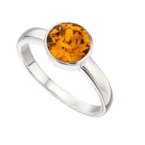 Citrine 6.5 Ratti Stone Silver Beautiful Ring (code- Cey0018)