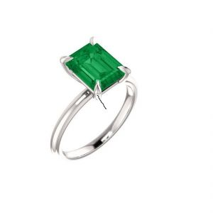 6.25 Ratti Panna Silver Ring Original & Natural Gemstone Ring ( Code - Red00034 )