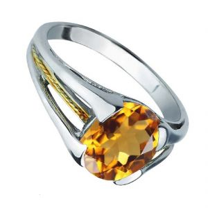 Original Stone Citrine 5.25 Carat Stone Silver Ring For Unisex (code- Cey0022)