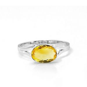 Gemstone Rings - Citrine 5.25 Carat Stone Silver Ring Lab Certified & Natural Stone Ring For Unisex (Code- CEY0024)