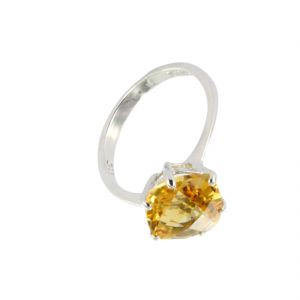 6.25 Ratti Natural Citrine Stone Silver Ring For Unisex (code- Cey0025)