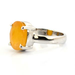 5.00 Ratti Pushkar Silver Ring Natural & Original Gemstone Ring ( Code Red00031 )