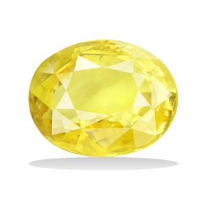 Natural & Unheated Stone Yellow Sapphire 5.25 Ratti Precious Stone For Unisex (code- Cey0026)