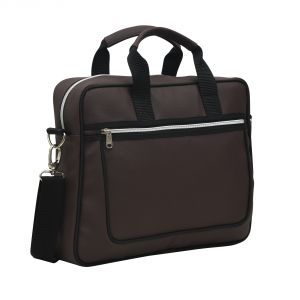 Aquador Laptop Cum Messenger Bag With Brown Faux Vegan Leather- ( Code -ab-s-1467-brown)