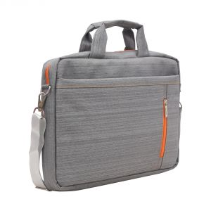 Aquador Laptop Cum Messenger Bag With Grey Orange Matty Fabric ( Code - Ab-mat-1480-greyorange )