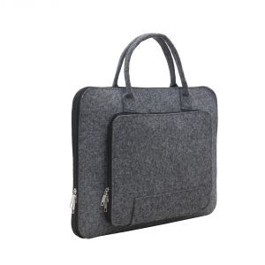 Aquador Laptop Cum Messenger Bag With Grey Felt Fabric ( Code - Ab-ff-1484-grey )