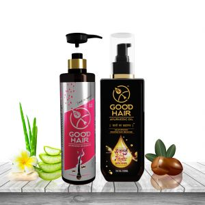 Good Hair Ayurvedic Combo Kit Hair Oil And Shampoo - ( Code - Gh_mfn_comkithosam )