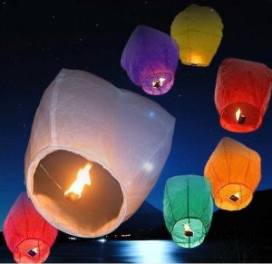 Diwali Celebration Sky Lanterns Diamond Shape