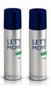 Benetton Personal Care & Beauty - Pack Of 2 Benetton Lets Move Deodorant Spray - 200 Ml (for Men)