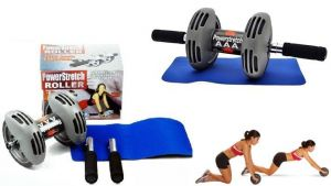 Shree Slimming Accessories - Power Stretch Healthcare Ab Exercise Roller (full Body Exerciser)