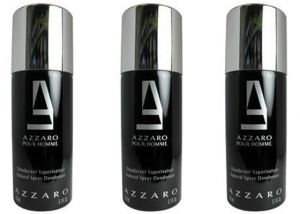 Set Of 3 Azzaro Black Deodorant 200 Ml