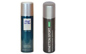 Combo Of Benetton Sports And Davidoff Cool Man Deo -200 Ml Each