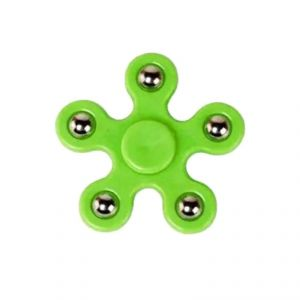 Fashblush Green Hand Fidget Spinner Anti Anxiety, High Quality Stress Reliever With 5 Sides Steel Balls (product Code Fb72012)