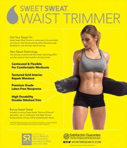 Health & Fitness - Hot Shaper Slimming Sweat Belt Fat Burner Neoprene Belt Free Size