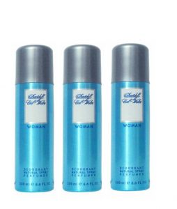 Set Of 3 Davidoff Cool Water Deodorant For Women 200 Ml