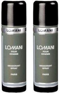 Lomani Deodorants - Set of 2 Lomani Grey Deodorant 200 ml each