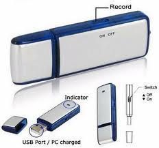 Voice Recorders - Pen Drive Shape Voice Recorder USB 4GB Memory Flash Rechargeable 2 In 1