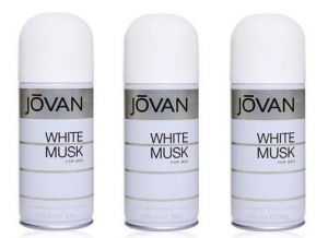 Set Of 03 Jovan White Musk Deodorant Spray Men 200 Ml