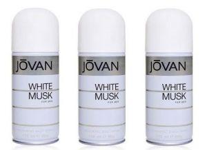 Jovan Personal Care & Beauty - Set Of 03 Jovan White Musk Deodorant Spray Men 200 ml