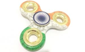 Tri Colour Indian Flag Metal Fidget Hand Spinner Toy