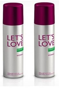 Pack Of 2 Benetton Lets Love Deodorant Spray - 200 Ml Each