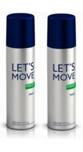 Pack Of 2 Benetton Lets Move Deodorant Spray - 200 Ml (for Men)