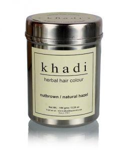 Khadi Personal Care & Beauty - KHADI HERBAL NUT BROWN HENNA- NATURAL HAZEL 150 Gms