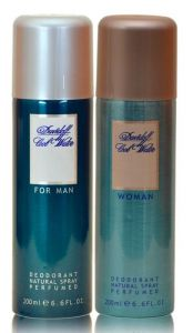Combo Of Davidoff Cool Water Man And Woman Deodorant Body Spray