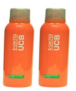 Benetton Deodorants - Set of 2 B-United man Perfume Body Spray UCB 200 ml For Men