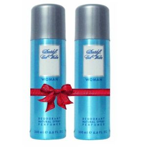 Set Of 2 Cool Water By Davidoff Womens Deodorant Spray-200ml Each