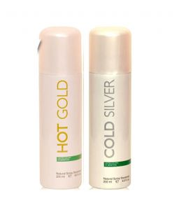 Benetton Deodorants - United Colors Of Benetton (Hot Gold, Cold Silver) Deodorants 200ml