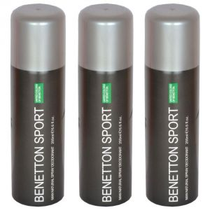 Deodorants (Men's) - Set Of 3 Benetton Sports Ucb Man Natural Spray Deodorant 200 Ml