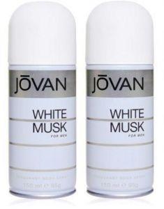 Jovan Deodorants - Set of 2 Jovan White Musk Deodorant For Men 200 Ml