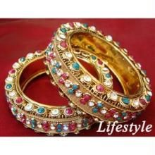 Imititation Jewellery Sets - Jodhaa Akbar Style Heavy Gold Forming Ethnic Kada