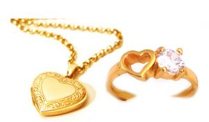 Valentine Gifts   Pendants for Her - Heart Photo Pendant with Heart CZ Diamond Ring for your Valentine