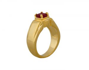 Semi Precious Rings - SIZZLING 22 CRT GOLD FORMING RUBY RING AT SIZZLING PRICES