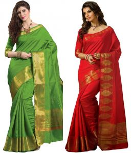 Rakhi Gifts (for Sisters) - Rakhi Gifts - Heavy Art Silk Saree for Your Sister