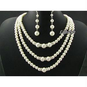 Designer Wear Shell Pearl Set