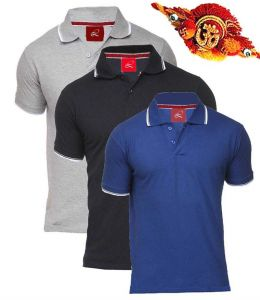Rakhi   Think Different (India) - Rakhi Gifts - Exclusive 3 Polo Neck T Shirts for your Brother